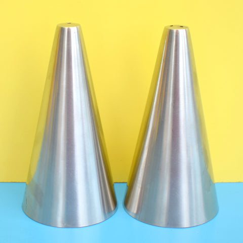 Vintage 1960s Stainless Steel Salt & Pepper - Danish