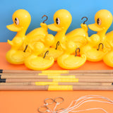 Vintage 1970s Hook A Duck Fairground Game - Yellow Plastic
