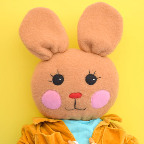 Vintage 1970s Homemade Bunny Rabbit - Dressed