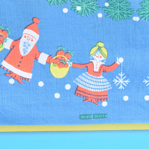 Vintage 1970s Kitsch Christmas Swedish Table Cloth - Square - Ingrid Jensen