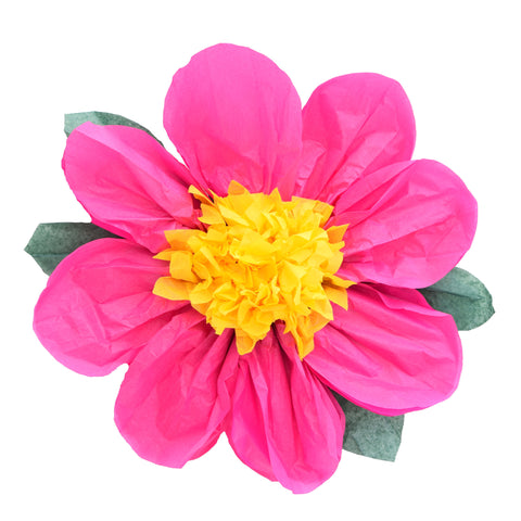 Retro Paper flower Wall Decoration - Pink, Yellow