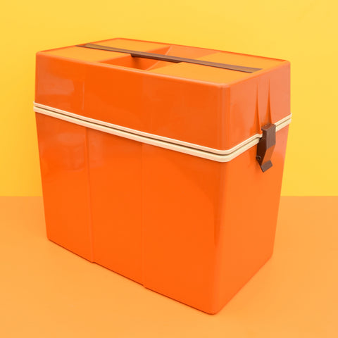 Vintage 1960s Hard Cool box - Orange Brown - Ideal Camper Van