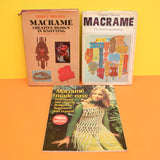 Vintage 1970s Macrame Books - Wall hangings, Clothes, Planters, Jewellery