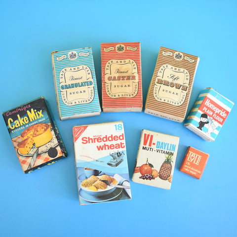Vintage 1960s / 1970s Toy /  Dolls Kitchen Accessories - Food Packaging Boxes / Pans