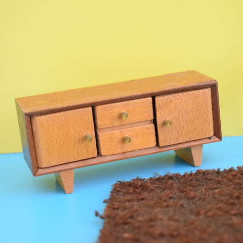 Vintage 1950s Wooden Dolls House Furniture - Sideboard / Table & Chairs / Accessories