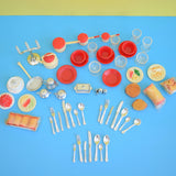 Vintage 1960s Lundby / Dolls House Food / Cutlery / Kitchen Accessories