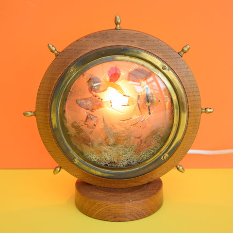 Vintage 1950s Kitsch TV Lamp - Nautical Fish Design