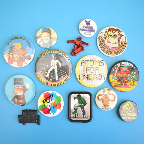 Vintage 1970s / 1980s Badges - Various Themes - Super Ted