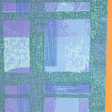 Vintage 1960s Heavy Weight Wallpaper - Purple / Blue Textured
