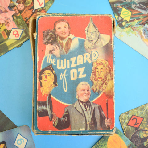 Vintage Rare 1940s Wizard Of Oz Playing Card Game - Fantastic Images - Complete