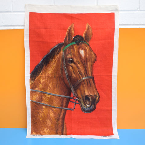 Vintage 1960s Tea Towel - Horse / Fox