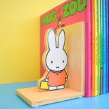Retro Book Ends & Bag - Miffy Bunny - Dick Bruna - Wooden - Orange