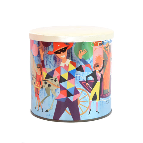 Vintage 1970s Carnival Metal Tin - James Pascall, Multi Coloured