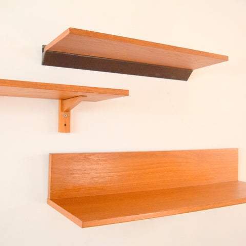 Vintage 1960s Teak Shelf Selection- Tapley & Unknown Manufacturers