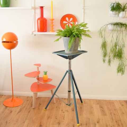 Vintage 1950s Adjustable Projector Stand / Plant Stand - Industrial & Quirky