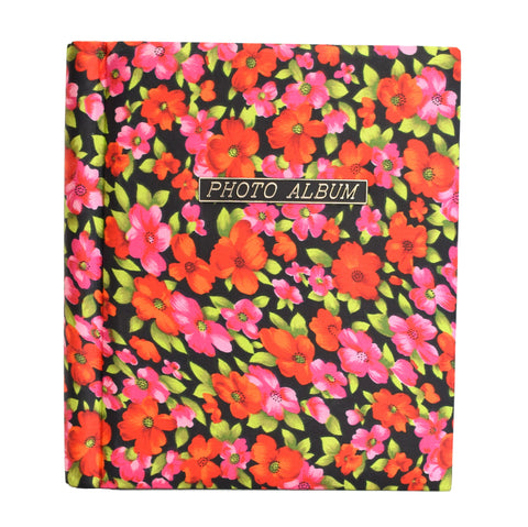Pink red flower 60s photo album