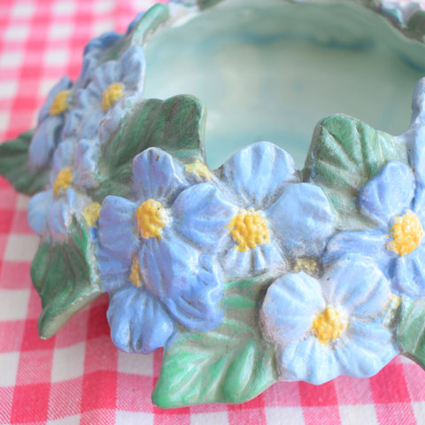 Vintage 1950s Ceramic Flower Candle Holder / Posey Dish