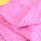 Vintage 1960s Double Bed Cover - Mauve Pink / Purple Candlewick Bedspread