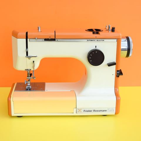 Vintage 1970s Frister Rossmann Sewing Machine, Orange