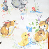 Vintage 1960s Bunny Rabbit Children's Wallpaper - Mice, Ducks , Cute!