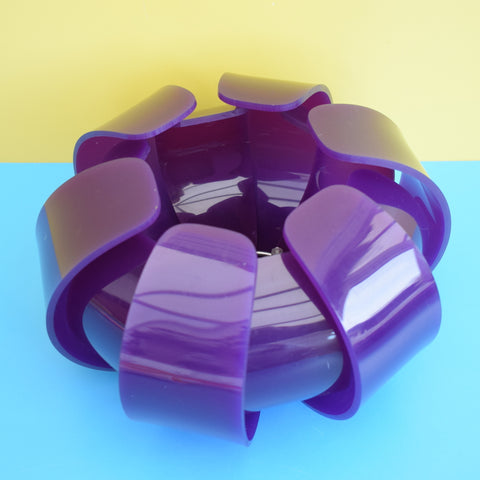 Vintage 1960s Perspex Lotus Light Shade - Purple
