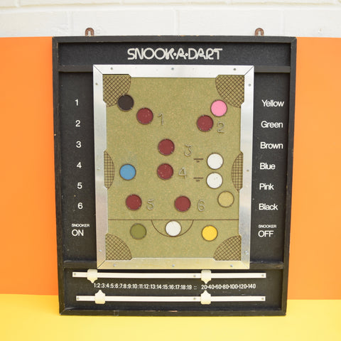 Vintage 1970s Snook-A-Dart Game Board - Snooker / Darts - Man Cave