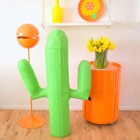 Vintage Large Faux Cactus - Unique Talking Point / Display