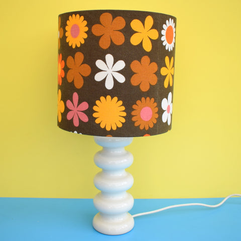 Vintage 1960s Lamp & Shade - Royal Doulton Base /  Genia Sapper Shade - Flower Power