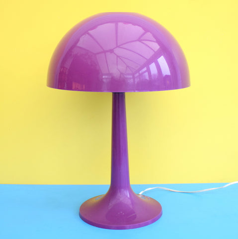 Vintage 1960s Plastic Mushroom Lamp - Gilbert Softlite Inc - Purple