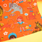 Vintage 1960s Curtains - Frieda Clowes Circus Design - Orange