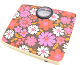 Vintage 1960s Bathroom Scales - Flower Power- Pink & Purple main