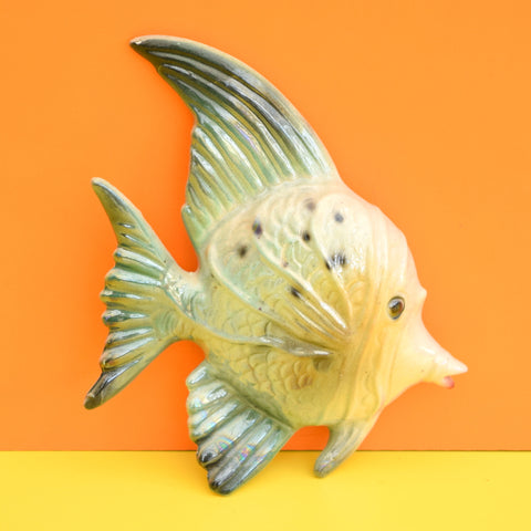 Vintage 1950s Kitsch Ceramic Fish Wall Decoration - Italy