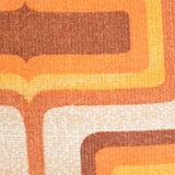 Vintage 1960s Cushion & Pad - Geometric, Orange