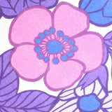 round purple flower power cushion vintage