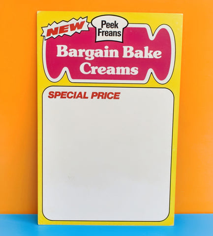 Vintage 1980s Larger Shop Advertising Biscuit Signs