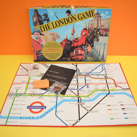 Vintage 1970s Game - The London Game - Complete - Tube Map