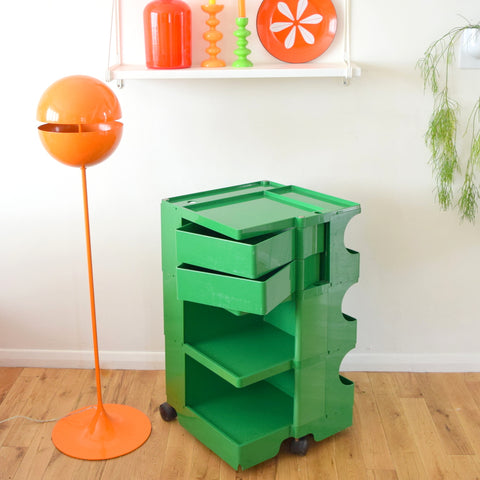Vintage 1960s Plastic Trolley - Bobby Trolley - Jo Columbo - Green