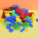 Vintage 1980s Stickle Bricks - Toys - Building Blocks - Plastic.