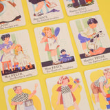 Vintage 1950s Happy Families Card Game - Fantastic Images - Ideal For Framing