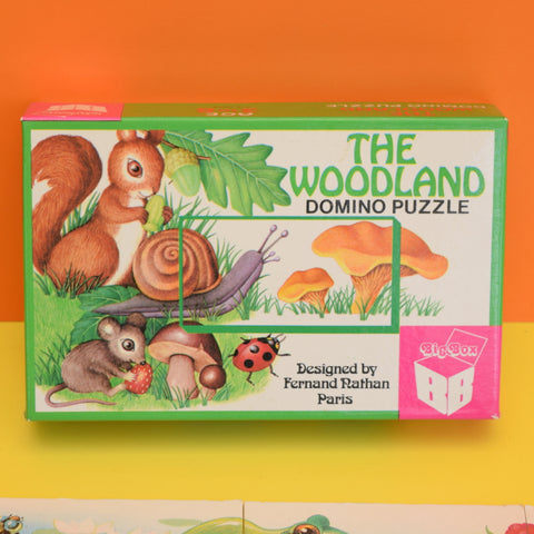 Vintage 1980s The Woodland Domino Puzzle - Gorgeous