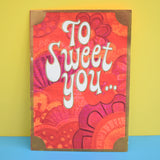 Vintage 1960s Kitsch Valentines Card - Flower Power Skunk