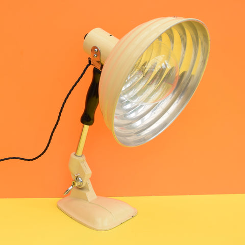 Vintage 1950s Pifco Metal Desk Lamp With Box - Originally a Heat Lamp