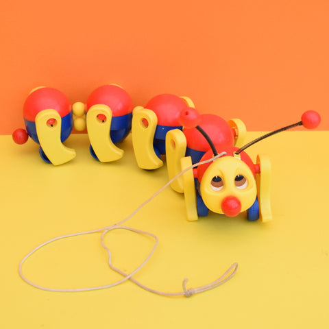 Vintage 1970s kitsch Plastic Fisher Price Caterpillar Toy
