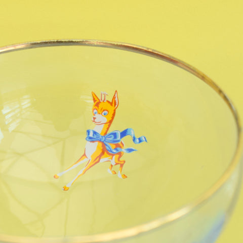 Vintage 1950s, 60s & 1970s Babycham Glasses - Pairs / Sets
