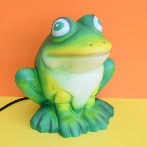 Vintage Plastic Heico Phillip Frog Lamp, Indoor / Outdoor - Green