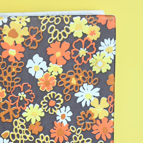Vintage 1960s Flower Power Photo Album- Wedding, Birthday, Baby - Orange & Brown