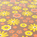 Vintage 1960s Folding Table - Camping, Glamping - Flower Power Design, Yellow, Brown