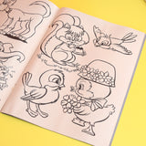 Vintage 1970s Kitsch Colouring Book x3 (Unused) With Pens