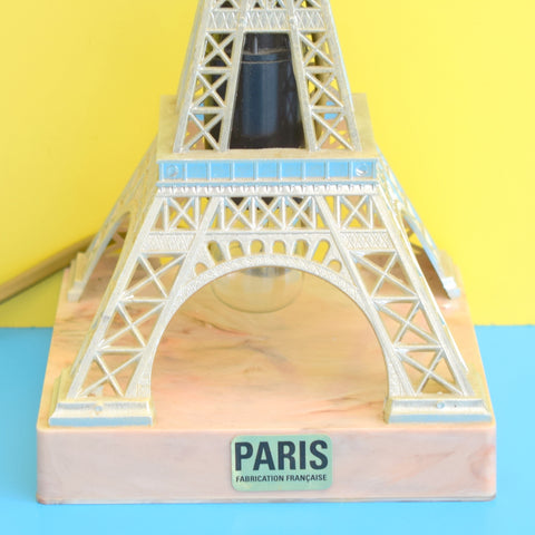 Vintage 1950s Kitsch Eiffel Tower Lamp - Plastic