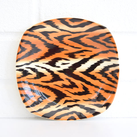 Vintage 1950s TG Green Safari Tea Plate - Kitsch Tiger Print